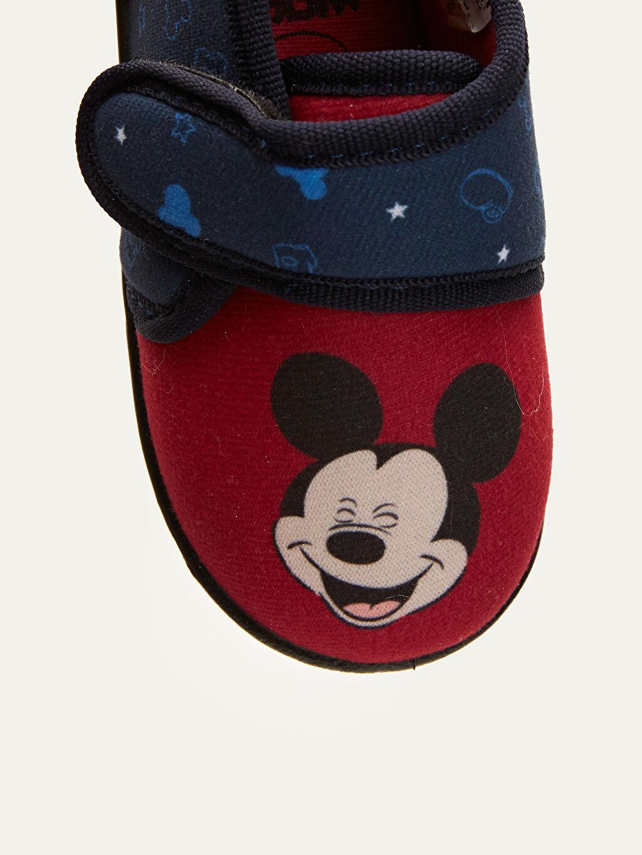 LC Waikiki Kırmızı Erkek Bebek Mickey mouse Baskılı Ev Ayakkabısı