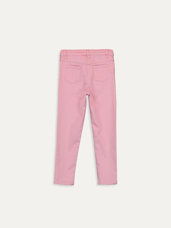 %88 Pamuk %8 Polyester %4 Elastan Standart Normal Bel Astarsız Pantolon Düz Gabardin Aksesuarsız Kız Bebek Gabardin Pantolon