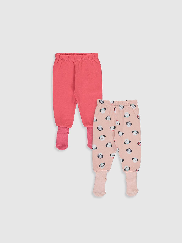 Pembe Kız Bebek Çoraplı Pijama Alt 2'li 9W8713Z1 LC Waikiki