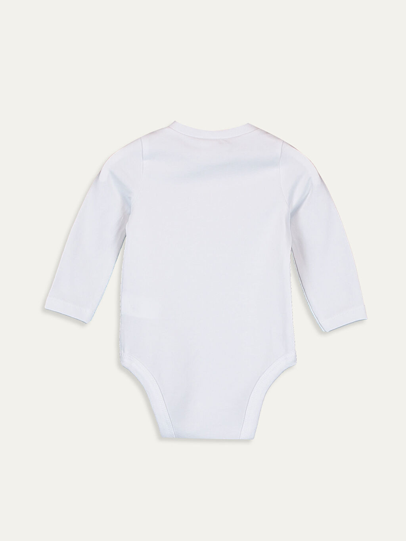 %97 Pamuk %3 Elastan Tişört Erkek Bebek Baskılı Çıtçıtlı Body