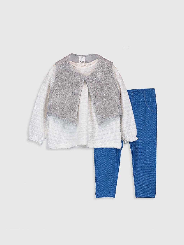 Mavi Kız Bebek Takım 3'lü  9WG821Z1 LC Waikiki