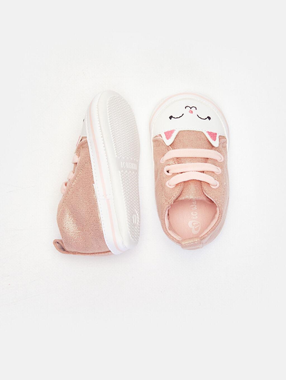 %0 Diğer malzeme (poliüretan) %0 Tekstil malzemeleri (%100 poliester) Bağcık Işıksız Pamuk Astar Yürümeyen Kız Bebek Yürüme Öncesi Ayakkabı