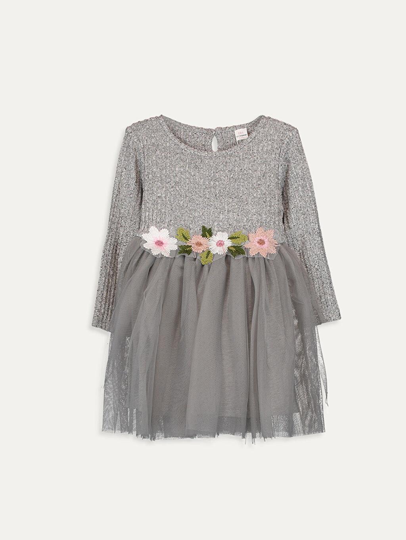 Gri Kız Bebek Elbise 9WH474Z1 LC Waikiki