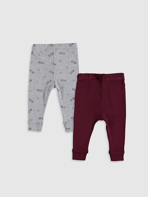 %100 Pamuk Ribana Standart Pijama Alt Erkek Bebek Pijama Alt 2'li