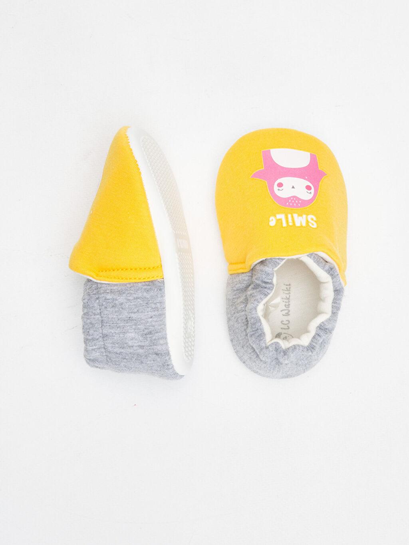 %0 Tekstil malzemeleri (%100 poliester) Kürk Astar Diğer Işıksız Yürümeyen Kız Bebek Baskılı Ev Ayakkabısı