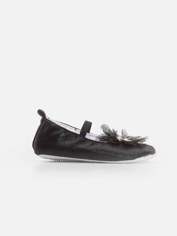 Siyah Kız Bebek Babet Ayakkabı ve Saç Bandı 9WI523Z1 LC Waikiki