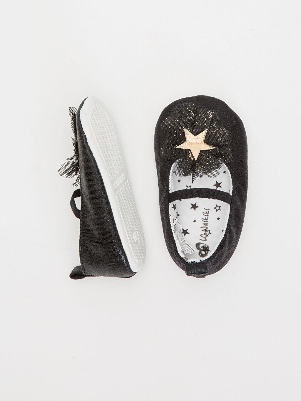 Kız Bebek Kız Bebek Babet Ayakkabı ve Saç Bandı