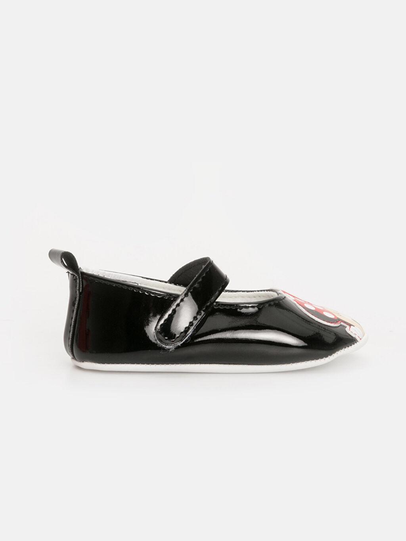 Siyah Kız Bebek Minnie Mouse Baskılı Ayakkabı 9WI893Z1 LC Waikiki