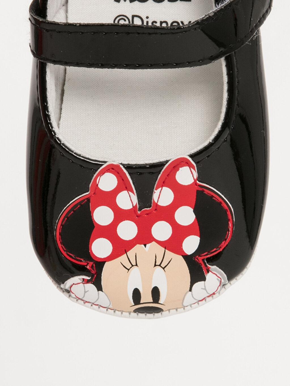 LC Waikiki Siyah Kız Bebek Minnie Mouse Baskılı Ayakkabı