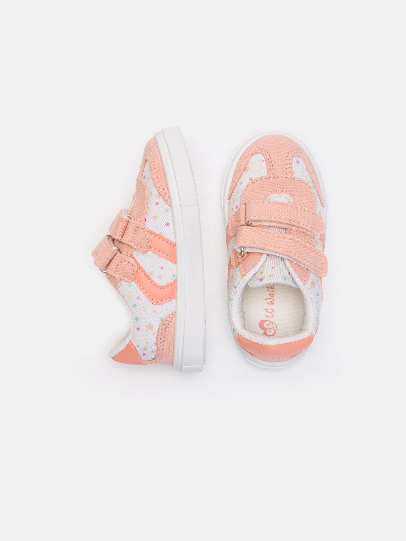 %0 Diğer malzeme (poliüretan) %0 Tekstil malzemeleri (%100 poliester) Sneaker Işıksız Polyester Astar Cırt Cırt Kız Bebek Cırt Cırtlı Spor Ayakkabı