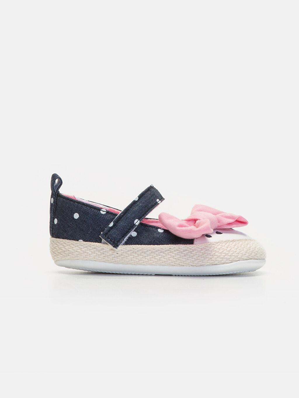 Lacivert Kız Bebek Puantiyeli Espadril Ayakkabı 9WJ060Z1 LC Waikiki