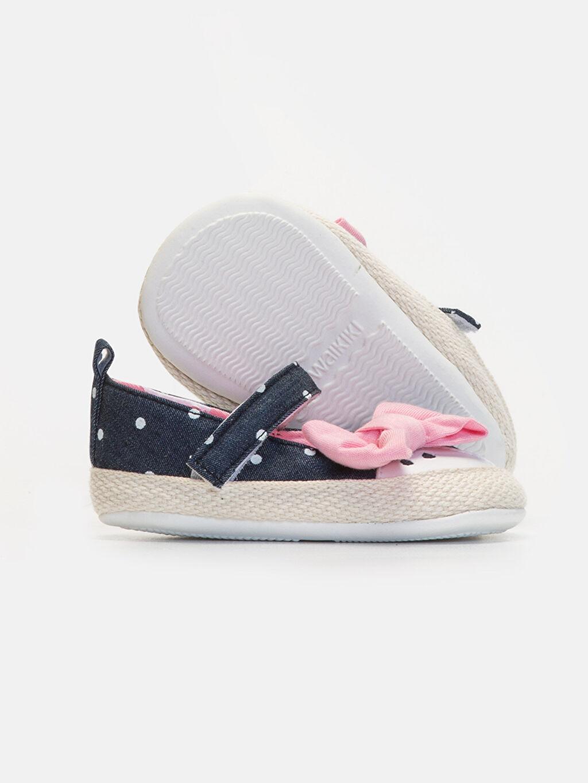 Kız Bebek Kız Bebek Puantiyeli Espadril Ayakkabı