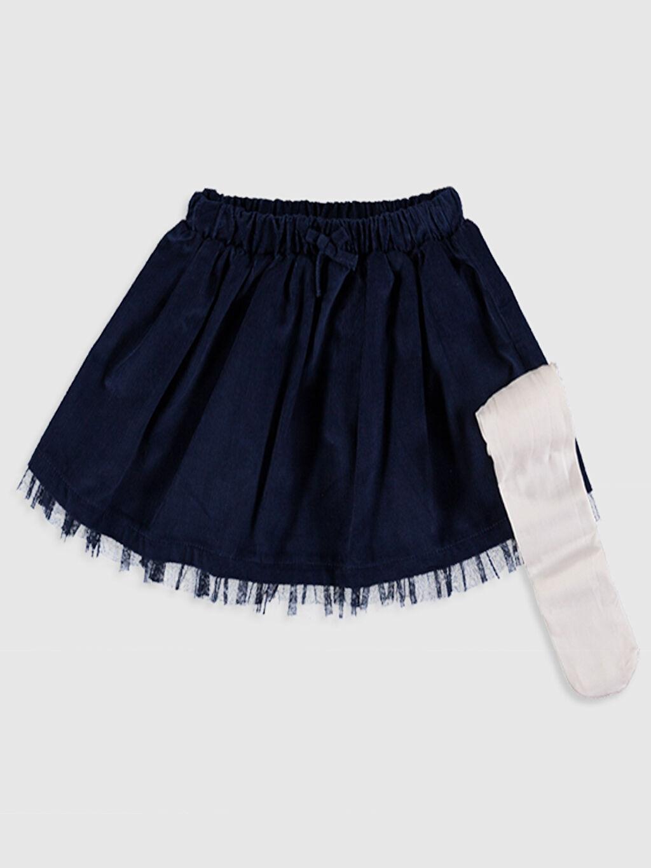 İndigo Kız Bebek Etek ve Külotlu Çorap 9WJ643Z1 LC Waikiki