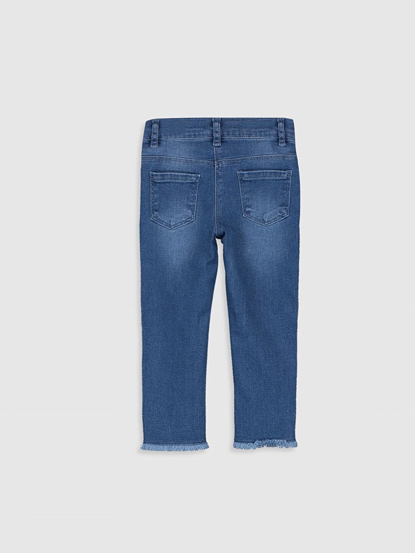 %90 Pamuk %7 Polyester %3 Elastan Normal Bel Astarsız Jean Düz Standart Standart Kız Bebek Jean Pantolon