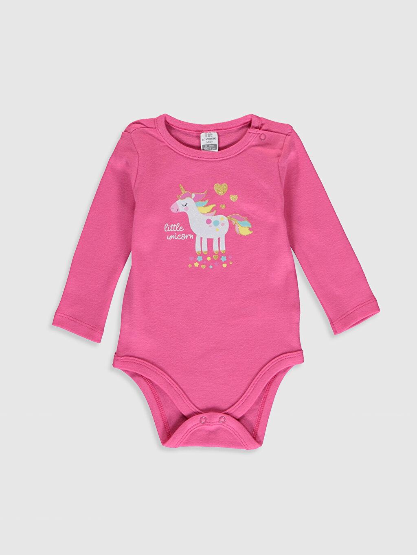 Kız Bebek Kız Bebek Unicorn Desenli Çıtçıtlı Body 2'li