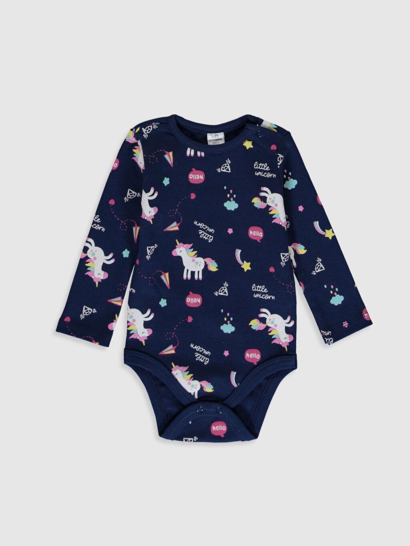 Kız Bebek Unicorn Desenli Çıtçıtlı Body 2'li