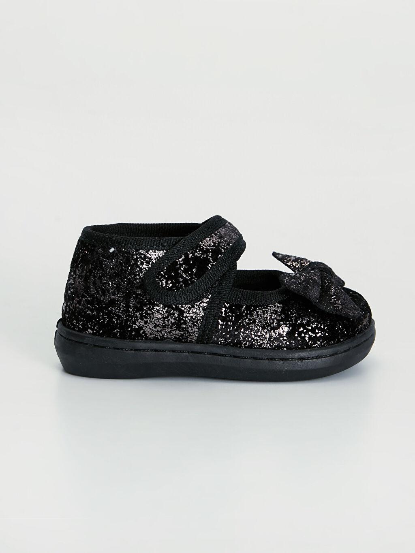 Siyah Kız Bebek Fiyonklu Babet Ayakkabı 9WL214Z1 LC Waikiki