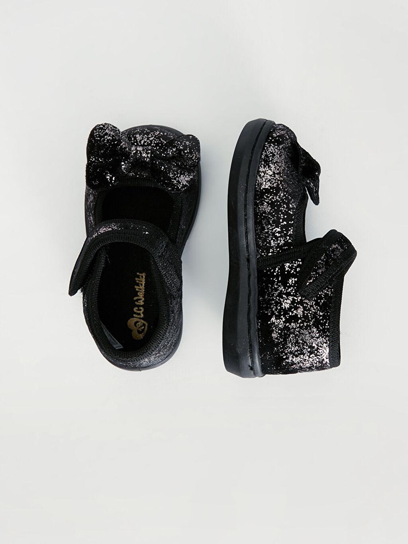%0 Tekstil malzemeleri (%100 poliester) Polyester Astar Cırt Cırt Işıksız Babet Kız Bebek Fiyonklu Babet Ayakkabı