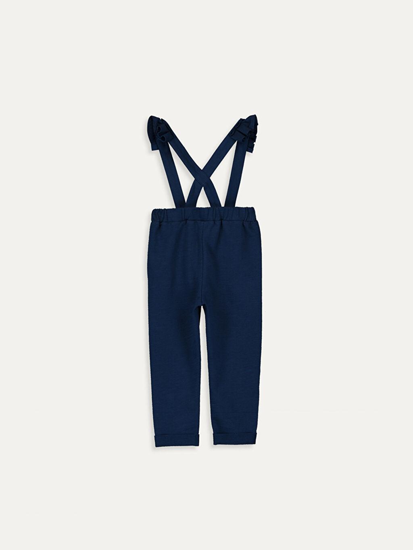 %100 Pamuk 3 Boyutlu Aksesuar Pantolon Düz İki İplik Standart Kız Bebek Pamuklu Salopet