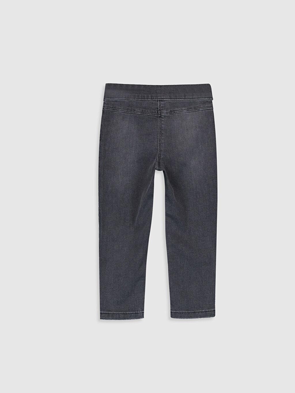 %89 Pamuk %8 Polyester %3 Elastan Dar Kız Bebek Skınny Fıt Jean Pantolon