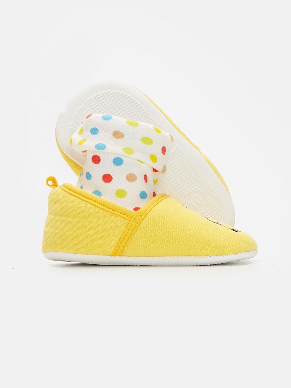 Kız Bebek Kız Bebek Minnie Mouse Nakışlı Ev Ayakkabısı