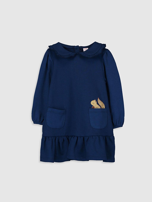 Lacivert Kız Bebek Bebe Yaka Elbise 9WN588Z1 LC Waikiki