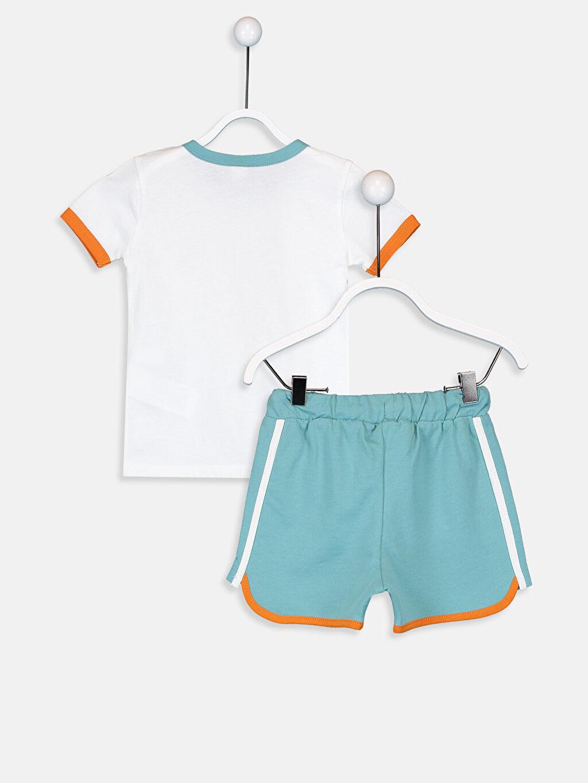 %100 Pamuk %100 Pamuk Aksesuarsız Standart İnce Günlük Düz Takım Süprem Erkek Bebek Baskılı Tişört ve Şort