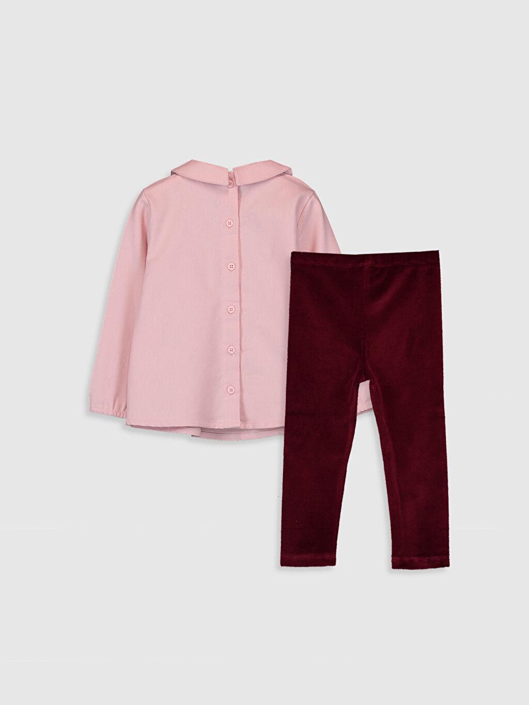 %100 Pamuk %68 Pamuk %29 Polyester %3 Elastan  Kız Bebek Gömlek ve Tayt