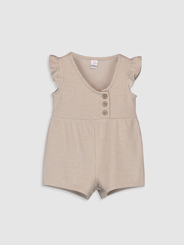 Bej Kız Bebek Şort Salopet 9WQ454Z1 LC Waikiki