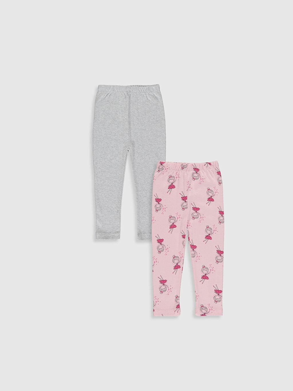 %100 Pamuk Standart Pijamalar Kız Bebek Pijama Alt 2'li