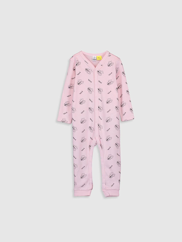 Pembe Kız Bebek Minnie Mouse Baskılı Tulum 9WT051Z1 LC Waikiki
