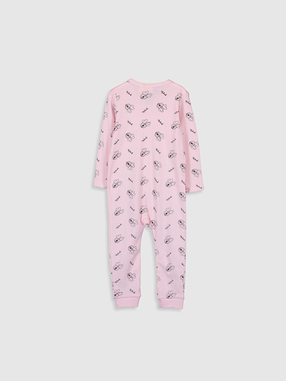 %100 Pamuk 012 Ay Patikli, 12 Ay+ Patiksiz İnterlok V Yaka Tulum Standart Kız Bebek Minnie Mouse Baskılı Tulum