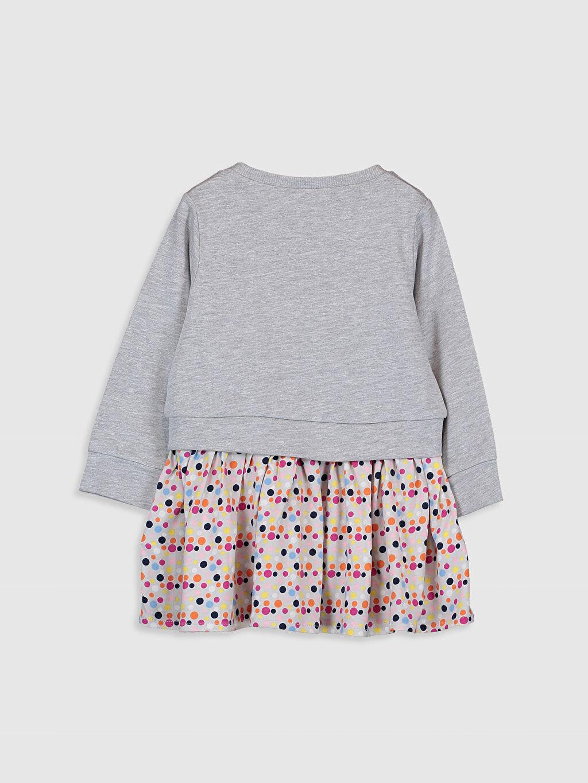 %65 Pamuk %35 Polyester Desenli Kız Bebek Puantiyeli Elbise