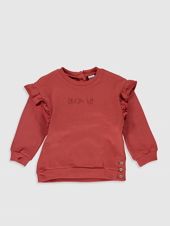 Turuncu Kız Bebek Kalın Sweatshirt 9WY726Z1 LC Waikiki