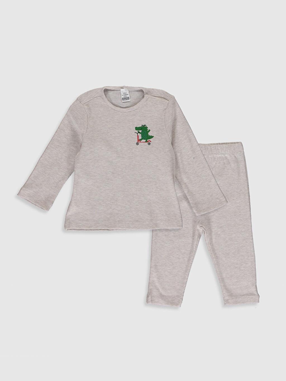 Gri Erkek Bebek Tişört ve Pantolon 9WB190Z1 LC Waikiki