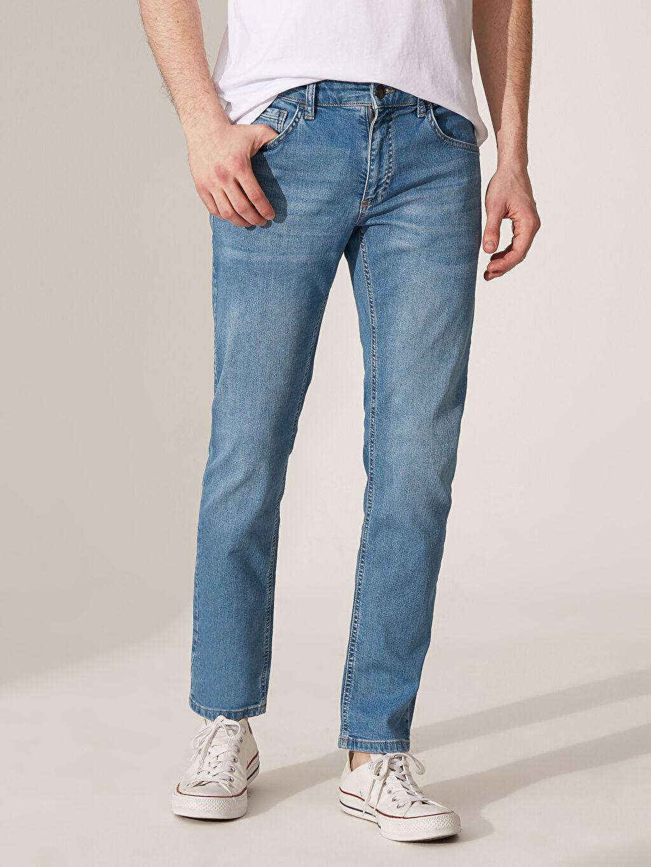 %98 Pamuk %2 Elastan Standart Normal Bel Astarsız Beş Cep Jean Orta Kalınlık 779 Regular Fit Jean Pantolon