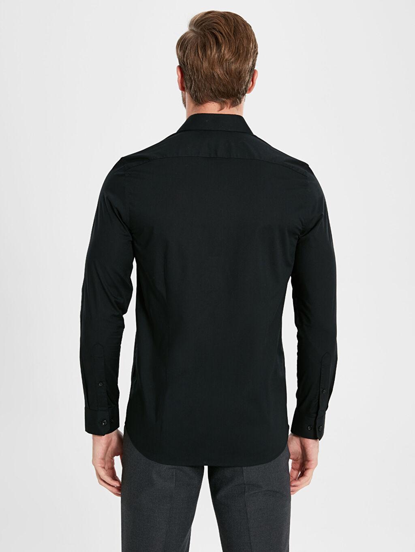 %61 Pamuk %39 Polyester Slim Fit Basic Gömlek