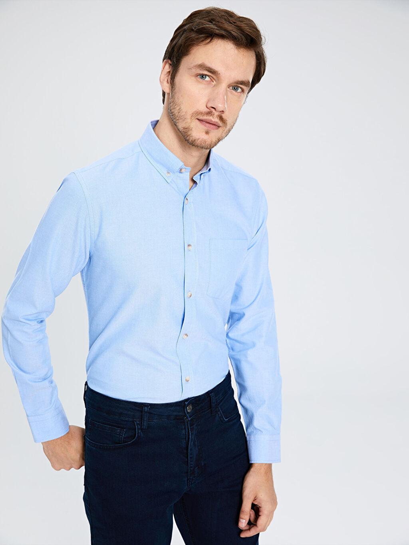 Mavi Regular Fit Basic Gömlek 0S1339Z8 LC Waikiki