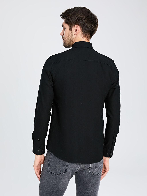 %100 Pamuk Slim Fit Basic Gömlek