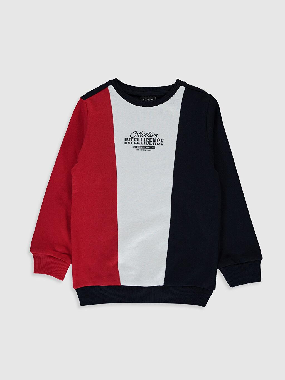 Lacivert Aile Koleksiyonu Erkek Çocuk Baskılı Sweatshirt 0S1375Z4 LC Waikiki