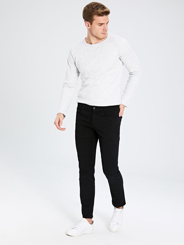 Siyah Dar Kalıp Gabardin Chino Pantolon 0S1741Z8 LC Waikiki