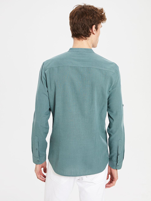 %100 Pamuk Ekstra Slim Fit Pamuklu Gömlek