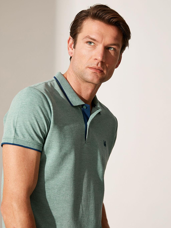 %49 Pamuk %51 Polyester Standart Tişört Pike Polo Yaka Kısa Kol Düz İnce Polo Yaka Basic Kısa Kollu Pike Tişört