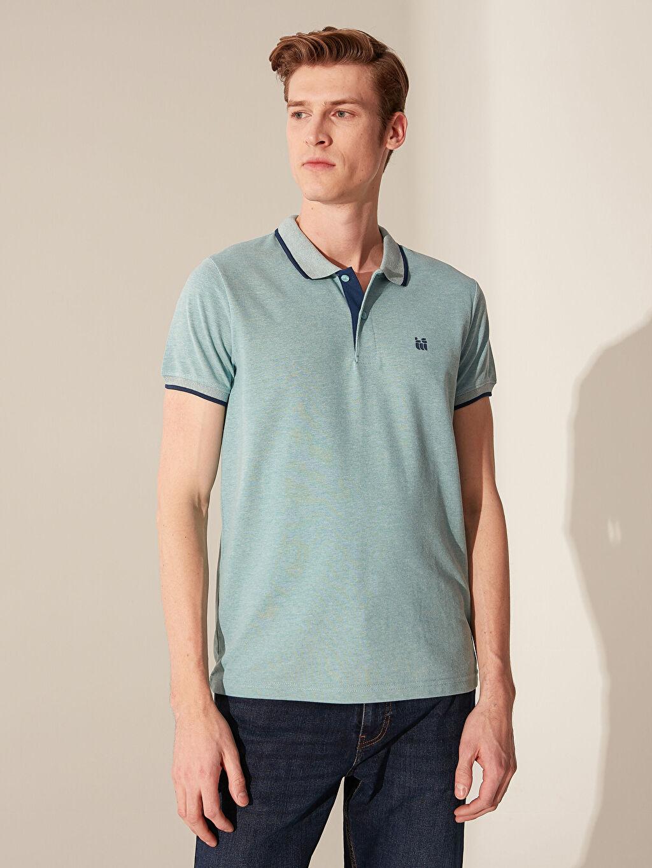 %60 Pamuk %40 Polyester Standart Tişört Pike Polo Yaka Kısa Kol Düz İnce Polo Yaka Basic Kısa Kollu Pike Tişört