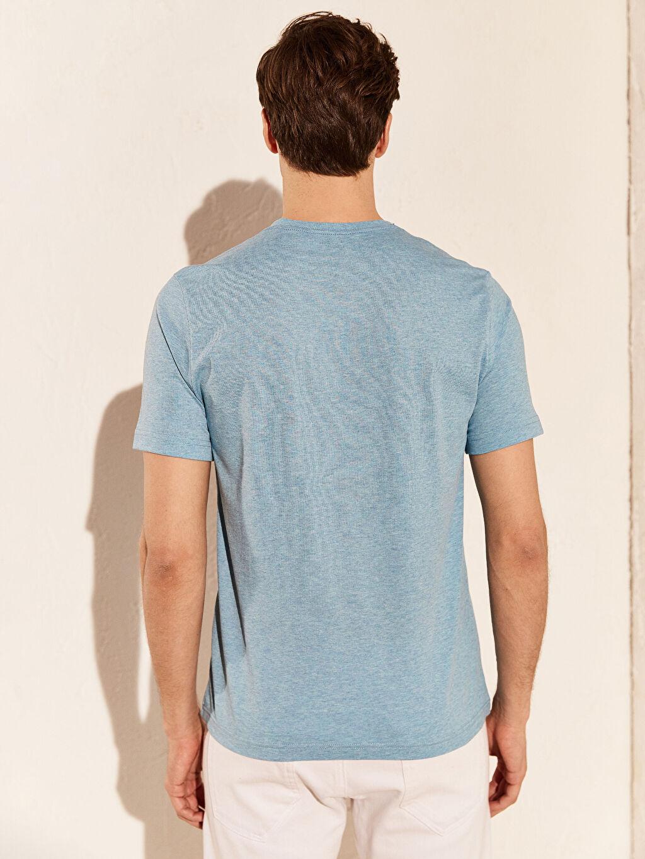 %54 Pamuk %46 Polyester V Yaka Basic Tişört