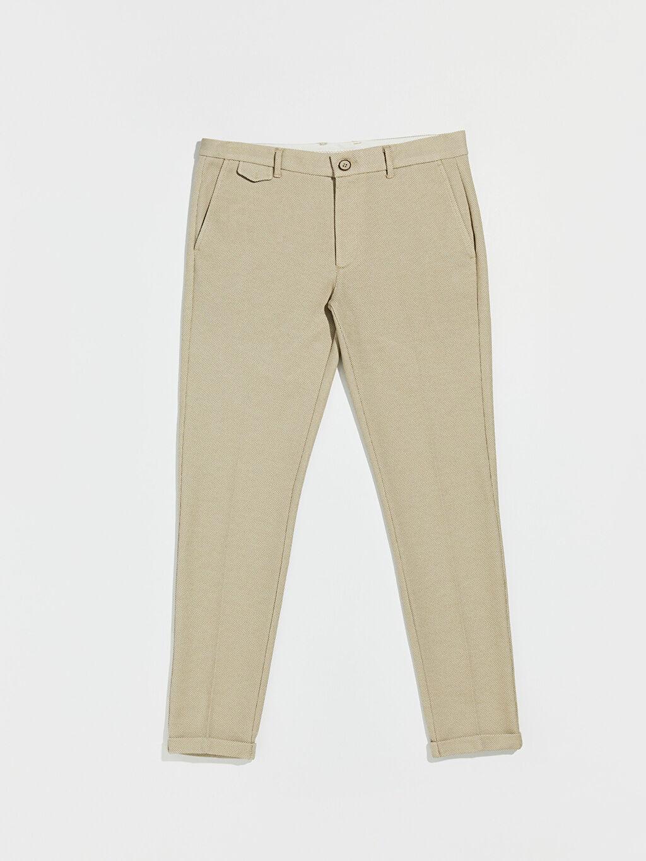 Bej Slim Fit Crop Pantolon 0S1925Z8 LC Waikiki