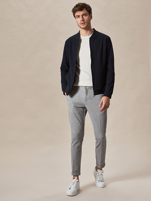 Erkek Slim Fit Crop Pantolon