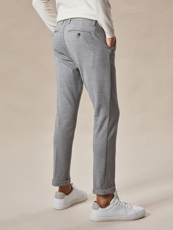 LC Waikiki Gri Slim Fit Crop Pantolon