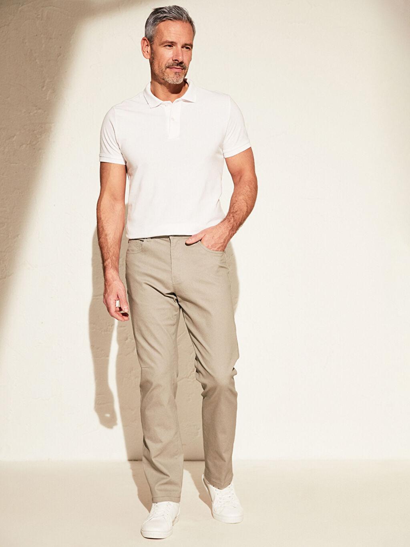 Gri Regular Fit Gabardin Pantolon 0S1980Z8 LC Waikiki