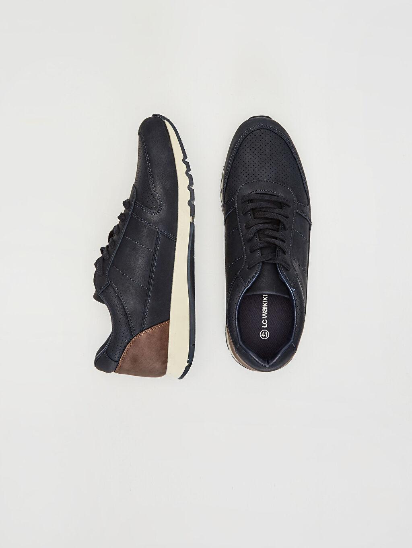 Diğer malzeme (pvc) Standart Bağcık Günlük Koku Yapmayan İç Taban Penye Astar Düz Sneaker Erkek Bağcıklı Günlük Ayakkabı